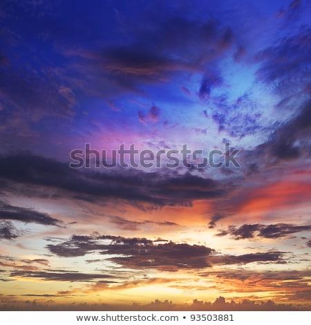 surpreendente · pôr · do · sol · ver · belo · laranja · noite - foto stock © moses