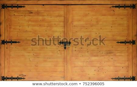 Preto dobradiça amarelo porta usado velho Foto stock © befehr
