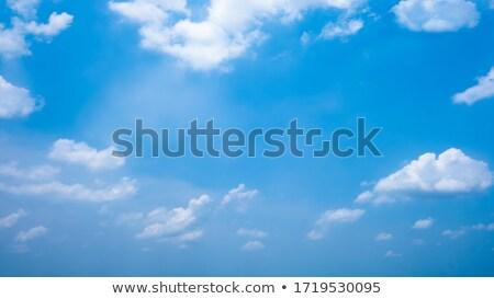 Kalp bulut mavi gökyüzü gibi mavi masmavi Stok fotoğraf © marinini