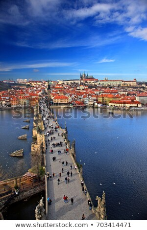 Prague bridges aerial view 15 Stock photo © LianeM