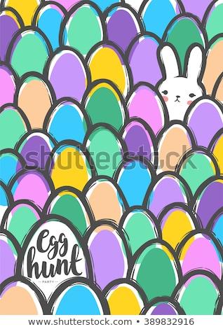 Paaseieren vector eps8 groep gras clip art Stockfoto © damonshuck