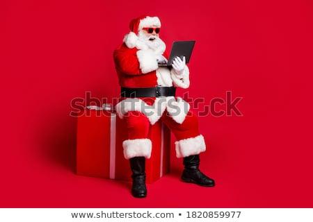 Modern netbook'lar kırmızı küçük gri klavye Stok fotoğraf © neirfy