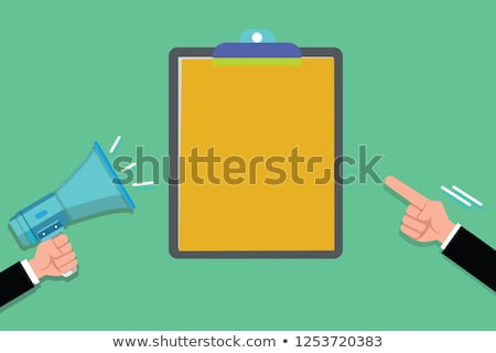 Businessman pointing to a blank clipboard Stock photo © photography33