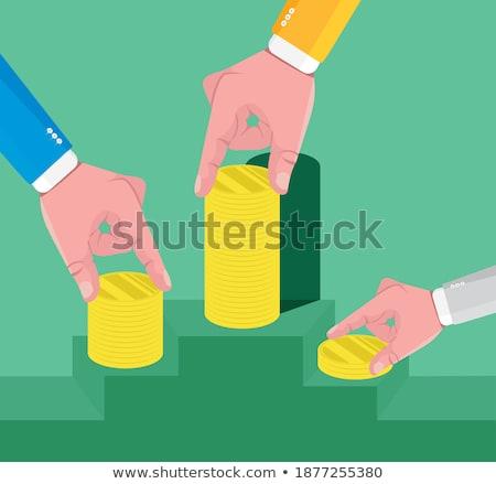 Dólares amarillo caja de regalo blanco fiesta Foto stock © inxti
