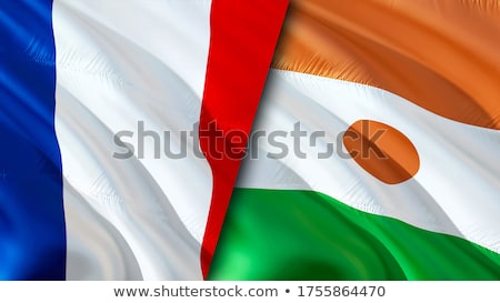 Political waving flag of Niger Stock photo © perysty