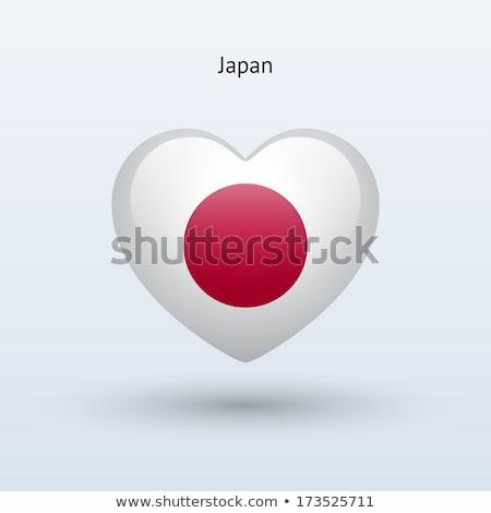 harita · bayrak · Japonya · arka · plan · seyahat - stok fotoğraf © perysty