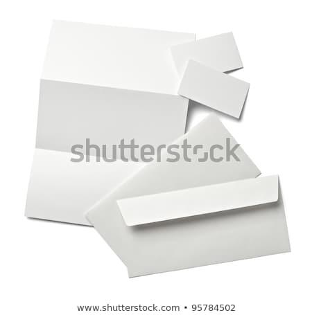 Lettre enveloppe livret modèle eps Photo stock © fixer00