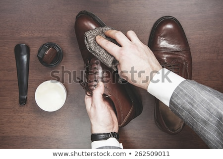 Schoen bruin Geel doek man paard Stockfoto © Hofmeester