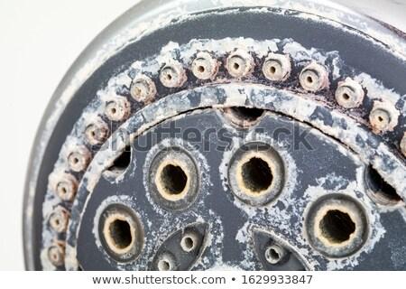 старые серебро водопроводный кран стены домой фон Сток-фото © haiderazim