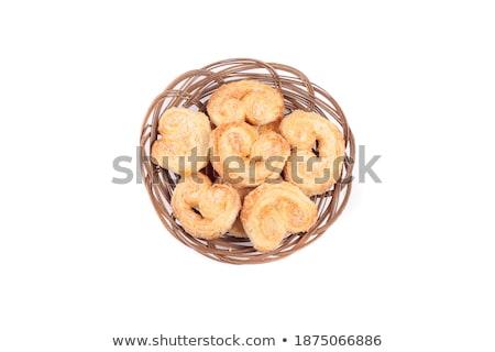 holandês · manteiga · bolo · fatias · amêndoa · enchimento - foto stock © shutswis