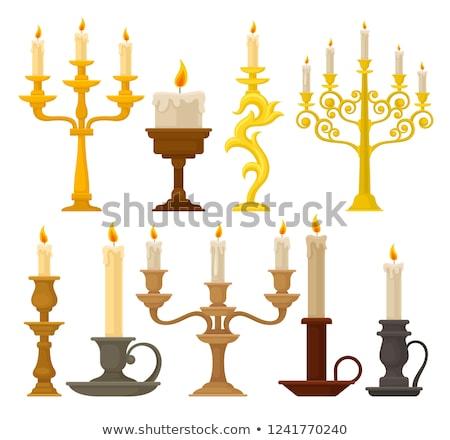 медь свет дизайна свечу Vintage антикварная Сток-фото © bbbar