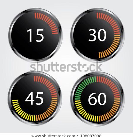 Stopwatch - Green Timers. Set on White. Stock photo © tashatuvango