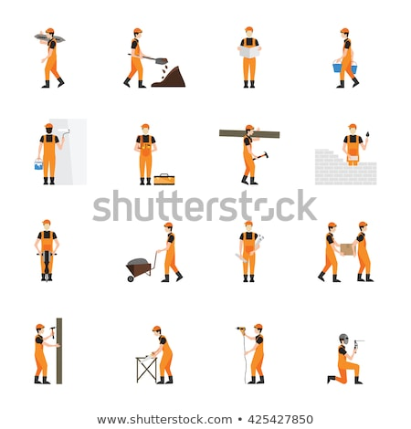 A workman holding a spade Stock photo © photography33