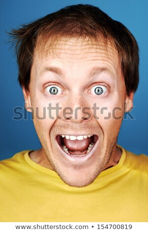 Man pulling a face Stock photo © photography33