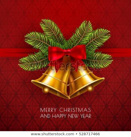 Merry Christmas in red shining golden rings Stock photo © marinini