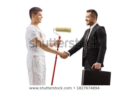 Decorators shaking hands Stock photo © photography33