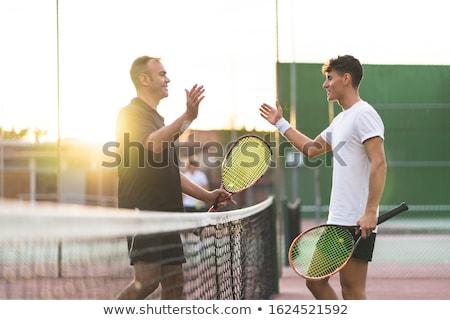 Jogar tênis pronto fitness retrato Foto stock © pressmaster