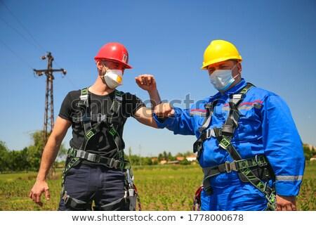 Stock fotó: üdvözlet · egyéb · oktatás · zöld · dolgozik · ipari