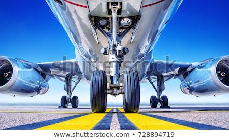 landing gear of jet airplane  Stock photo © premiere