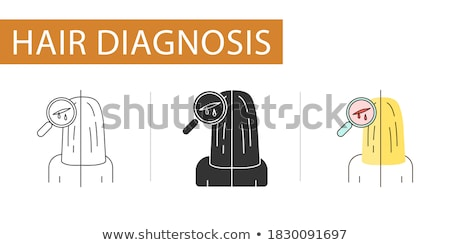 Sanguinosa vetro testa umani Foto d'archivio © prill