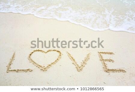amour · un · message · écrit · sable · résumé - photo stock © artush