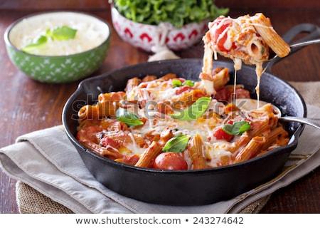 vegetable pasta gratin Stock photo © M-studio