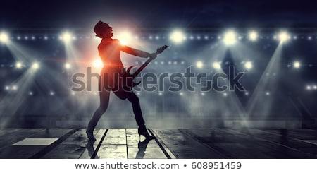 seducción · guitarra · jóvenes · sesión · sofá - foto stock © feedough