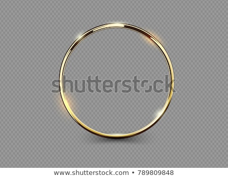 quadro · dourado · padrão · ilustração · flor - foto stock © kotenko