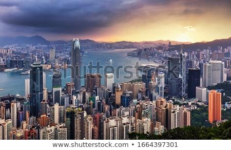 Panorama of Kowloon island Stock photo © joyr