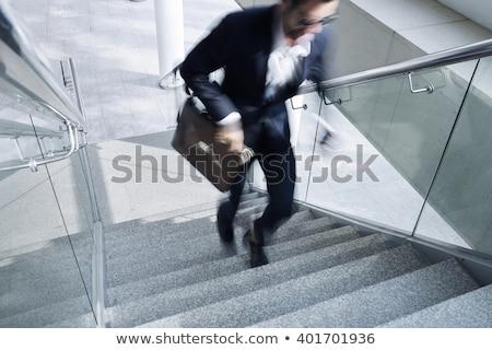 üzletember sietség fiatal fut izolált telefon Stock fotó © sahua