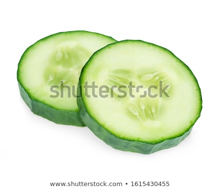 Stock photo: Slices of cucumber isolated on white