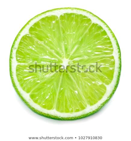 Slice of fresh lime Stock photo © boroda