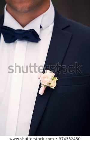 knoopsgat · bloem · rozen · pak · jas - stockfoto © kmwphotography