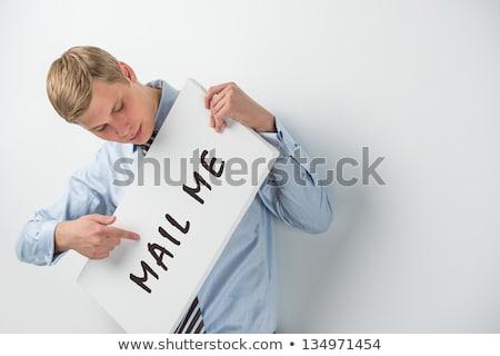 Сток-фото: красивый · бизнесмен · почты · мне · текста