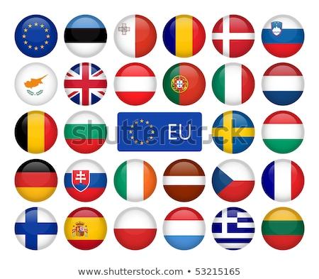 Foto stock: Botón · Malta · mapa · bandera · euros · Europa