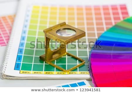 color guide and color fan with linen tester Stock photo © Zerbor