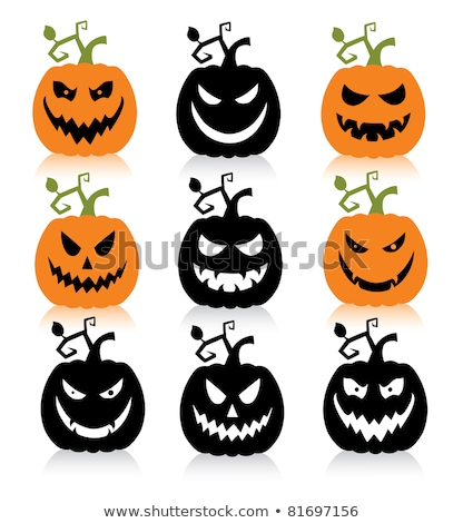 Scary Pumpkin Character with Scroll Stock photo © jorgenmac