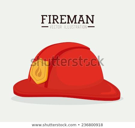 消防 ヘルメット 実例 デザイン 白 火災 ストックフォト © alexmillos