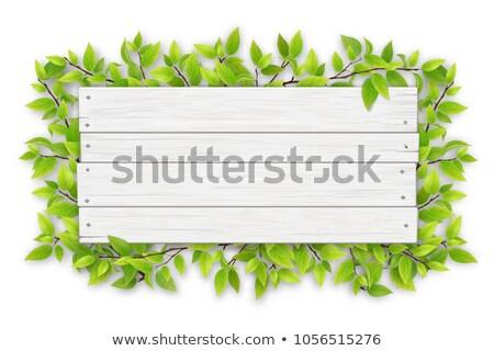eski · ahşap · tabelasını · yalıtılmış · beyaz · ahşap - stok fotoğraf © stevanovicigor