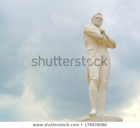 Sir Tomas Stamford Raffles monument Stock photo © joyr