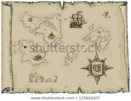 Eski harita kale örnek gizemli fantezi Stok fotoğraf © fresh_7266481