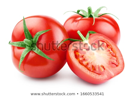 red tomatoes on a white background stock photo © mizar_21984