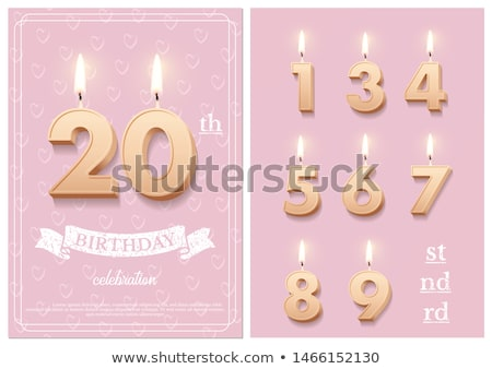 Burning birthday candles number 20 Stock photo © Zerbor