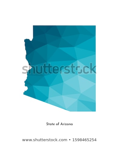 Harita Arizona 3D biçim renkli mavi Stok fotoğraf © NiroDesign