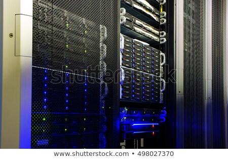 Rede servidores prata nuvem armazenamento de dados Foto stock © fenton
