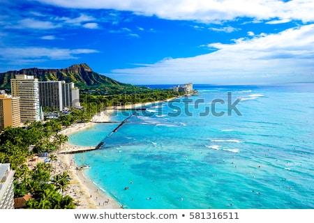 Waikiki plaj elmas kafa kasaba bakıyor Stok fotoğraf © kraskoff