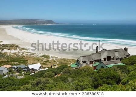 Praia península Cidade do Cabo África do Sul nuvens Foto stock © dirkr