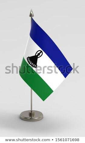 Miniatura banderą Lesotho odizolowany działalności Zdjęcia stock © bosphorus