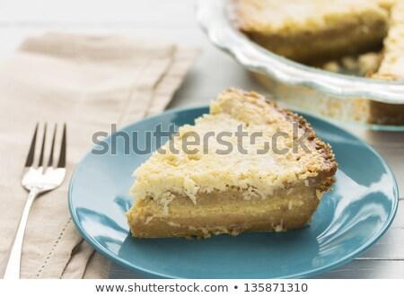 ココナッツ カスタード パイ デザート 豊富な 黄色 ストックフォト © LAMeeks