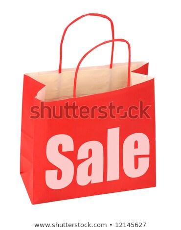 красный ценник продажи clipart интернет Сток-фото © phyZick